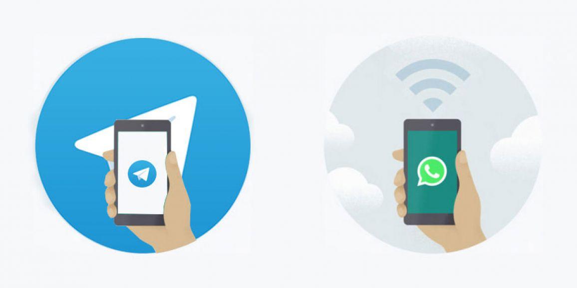 بررسی تفاوت های واتس اپ و تلگرام